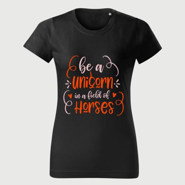 Be A Unicorn Tricou Femei Negru