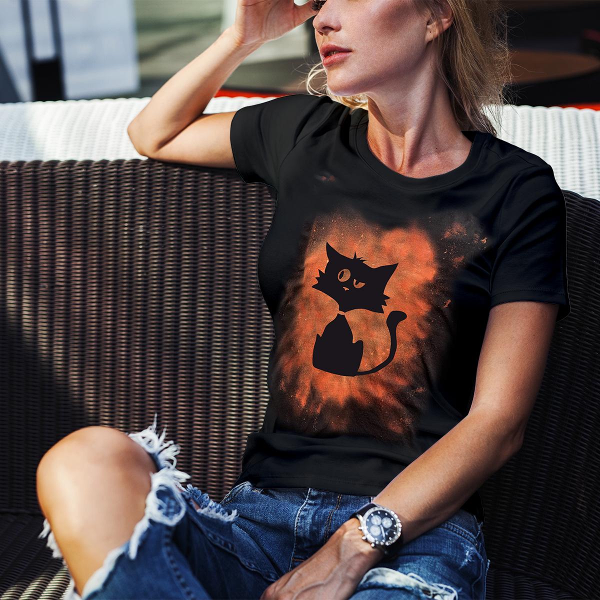 Tricou vintage pisicuta