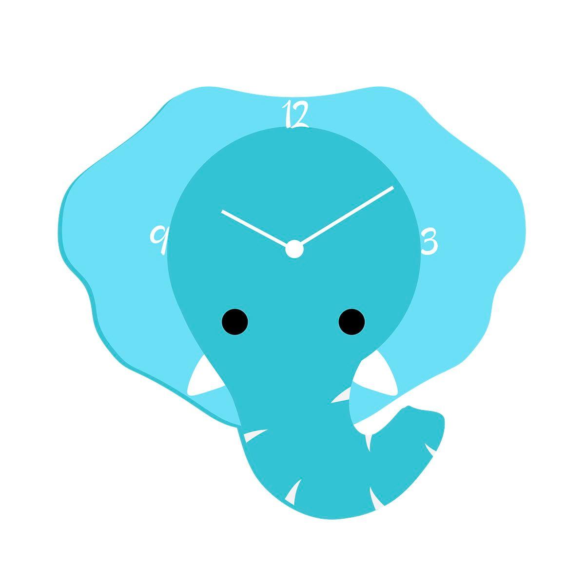 """Ceas de perete copii """"Elefantul Blând"""""""