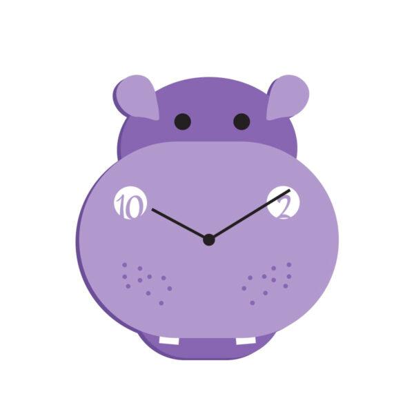 """Ceas de perete copii """"Hipopotamul Catifelat"""""""