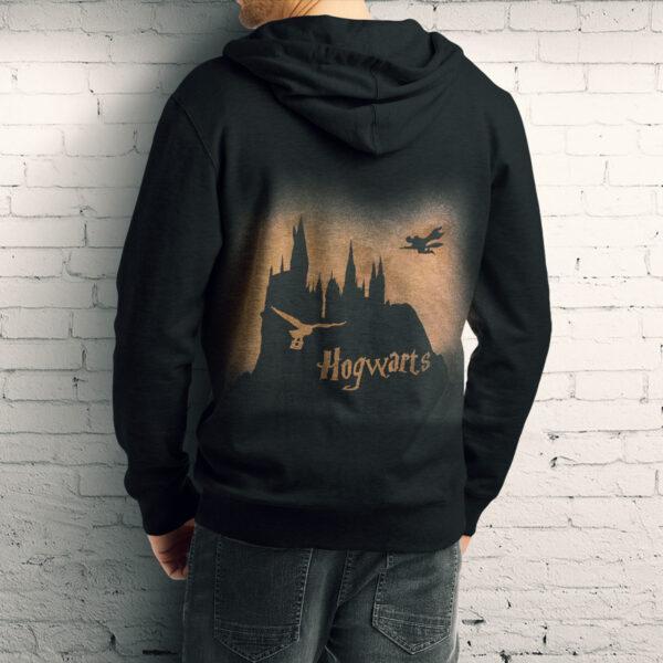 Hanorac Hogwarts Barabat Decolorat Cu Clor