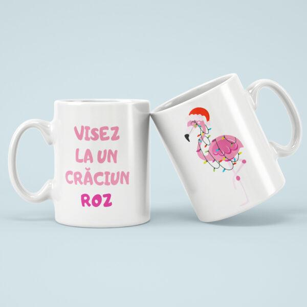 Cana Craciun Roz Flamingo