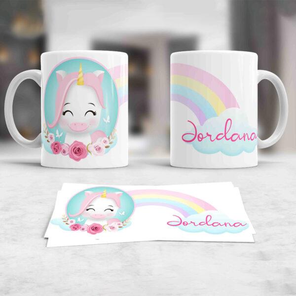 Cute Unicorn Cana Personalizata