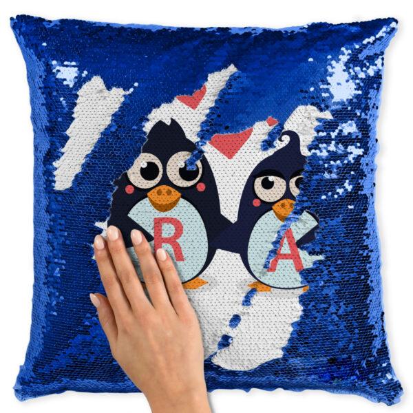 Perna Personalizabila Pinguini Albastra