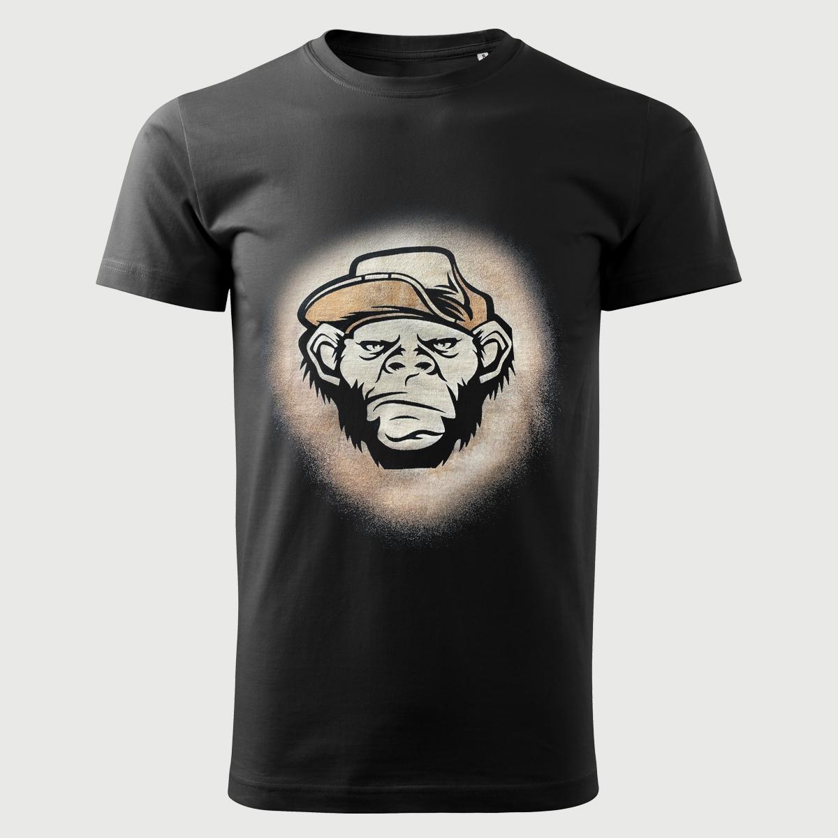 Angry Monkey Tricou Decolorat Cu Clor 2