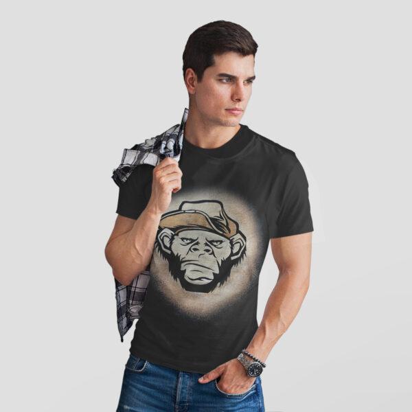 Angry Monkey Tricou Decolorat Cu Clor