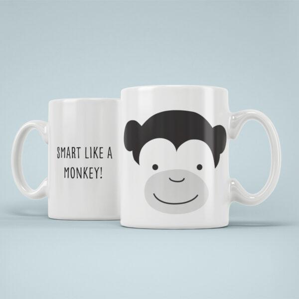 Cana Personalizata Maimuta Desteapta