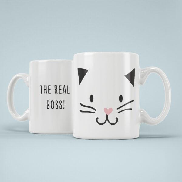 Cana Personalizata Pisica Boss