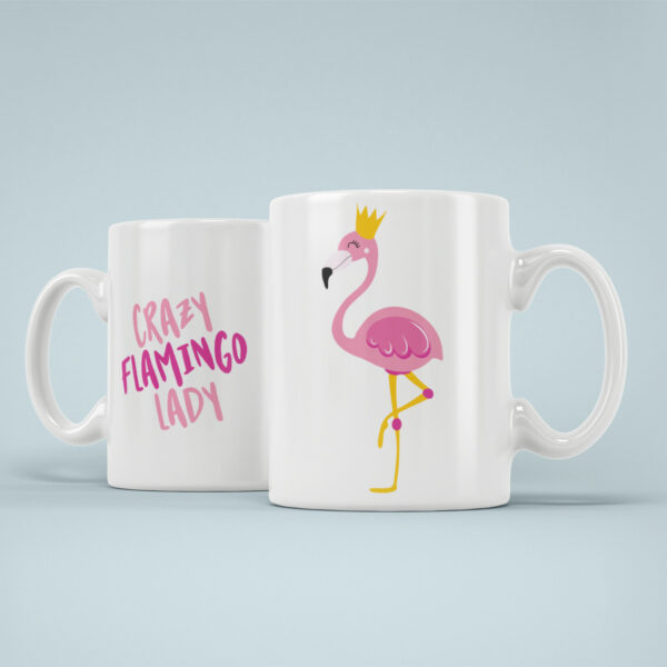 Cana Personalizata Crazy Flamingo Lady