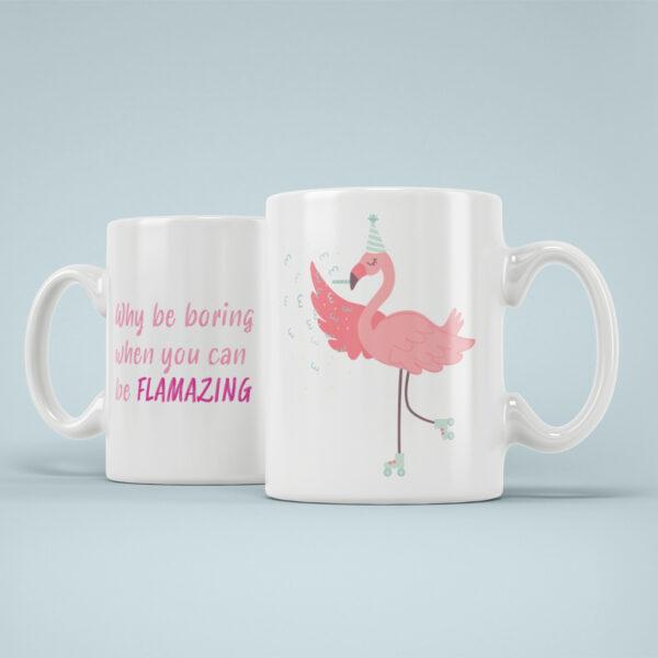 Cana Personalizata Flamingo Flamazing