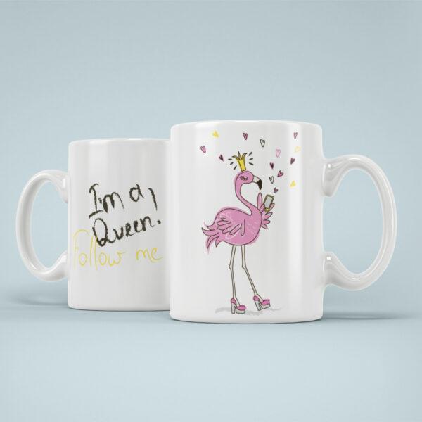 Cana Personalizata Flamingo Queen