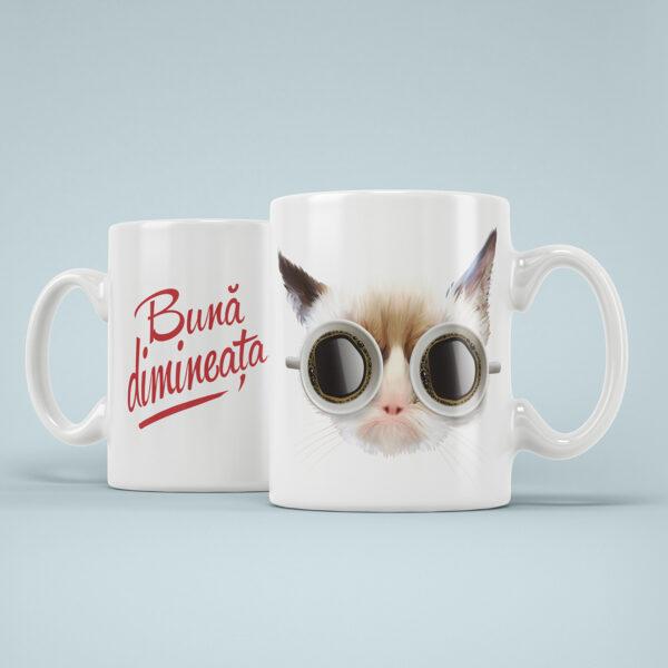 Cana Personalizata Pisica Buna Dimineata