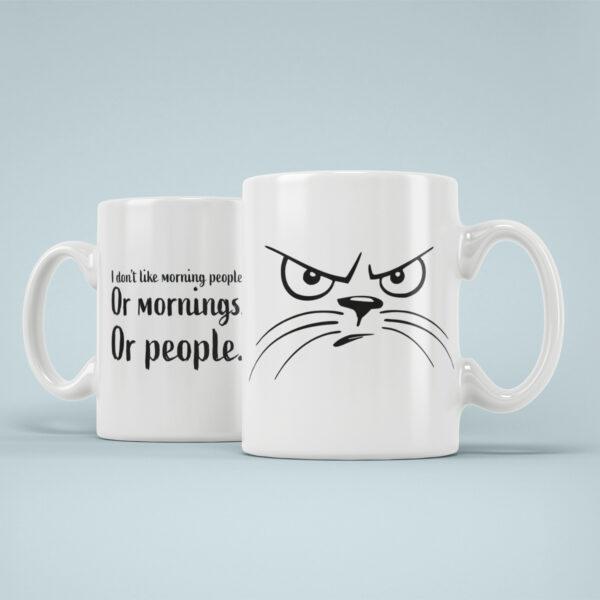 Cana Personalizata Pisica Morning People
