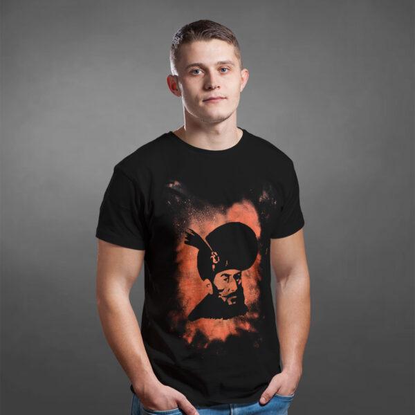 Tricou Negru Decolorat Clor Mihai Viteazul 2
