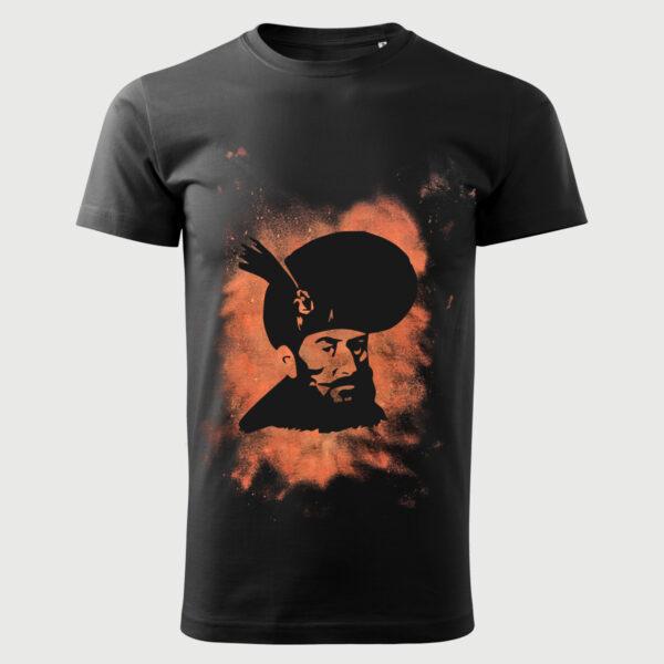 Tricou Negru Decolorat Clor Mihai Viteazul
