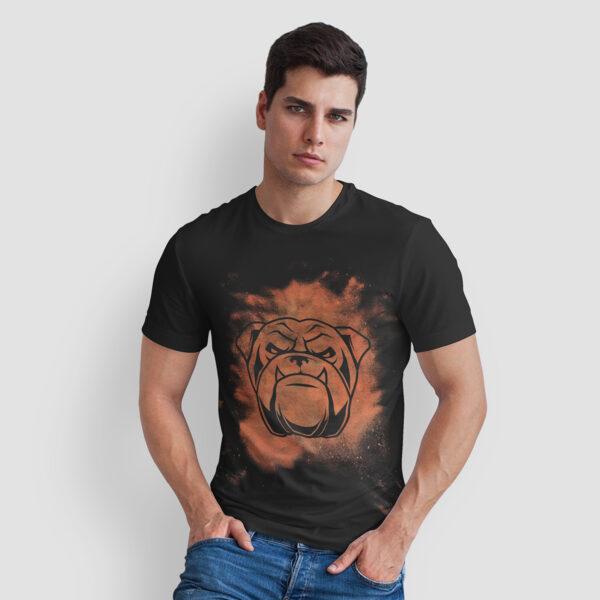 Tricou Negru Vintage Barbati Bulldog Fioros 2