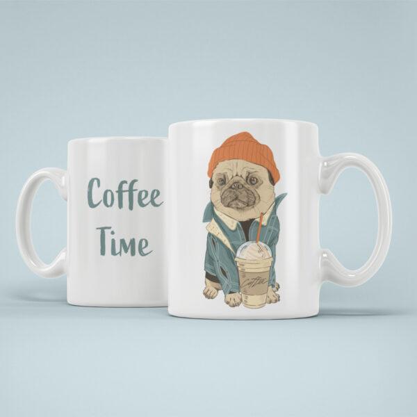 cana personalizata coffee time caine