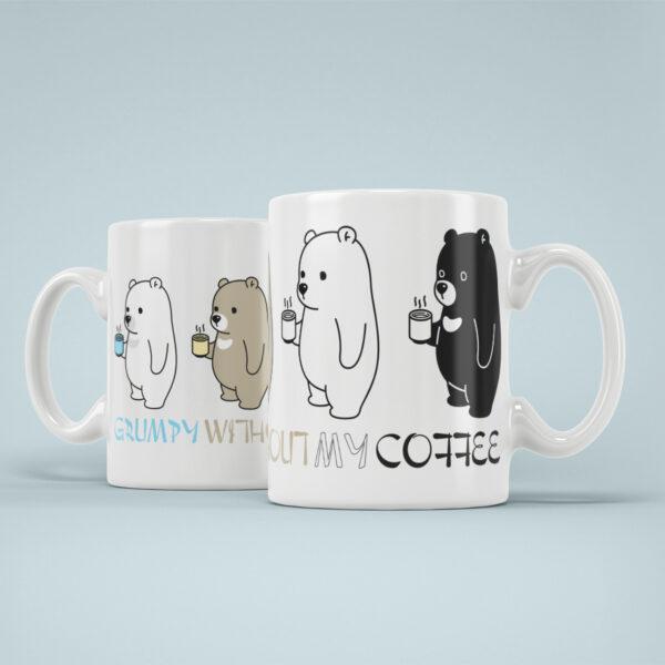 cana personalizata grumpy without my coffee panda