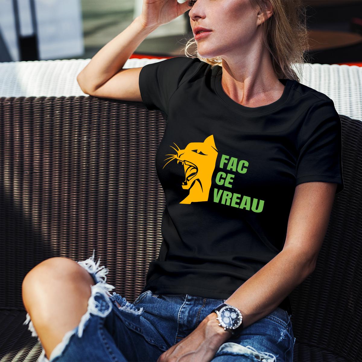 fac ce vreau tricou femei pisici 2