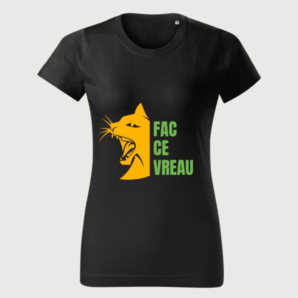 fac ce vreau tricou femei pisici