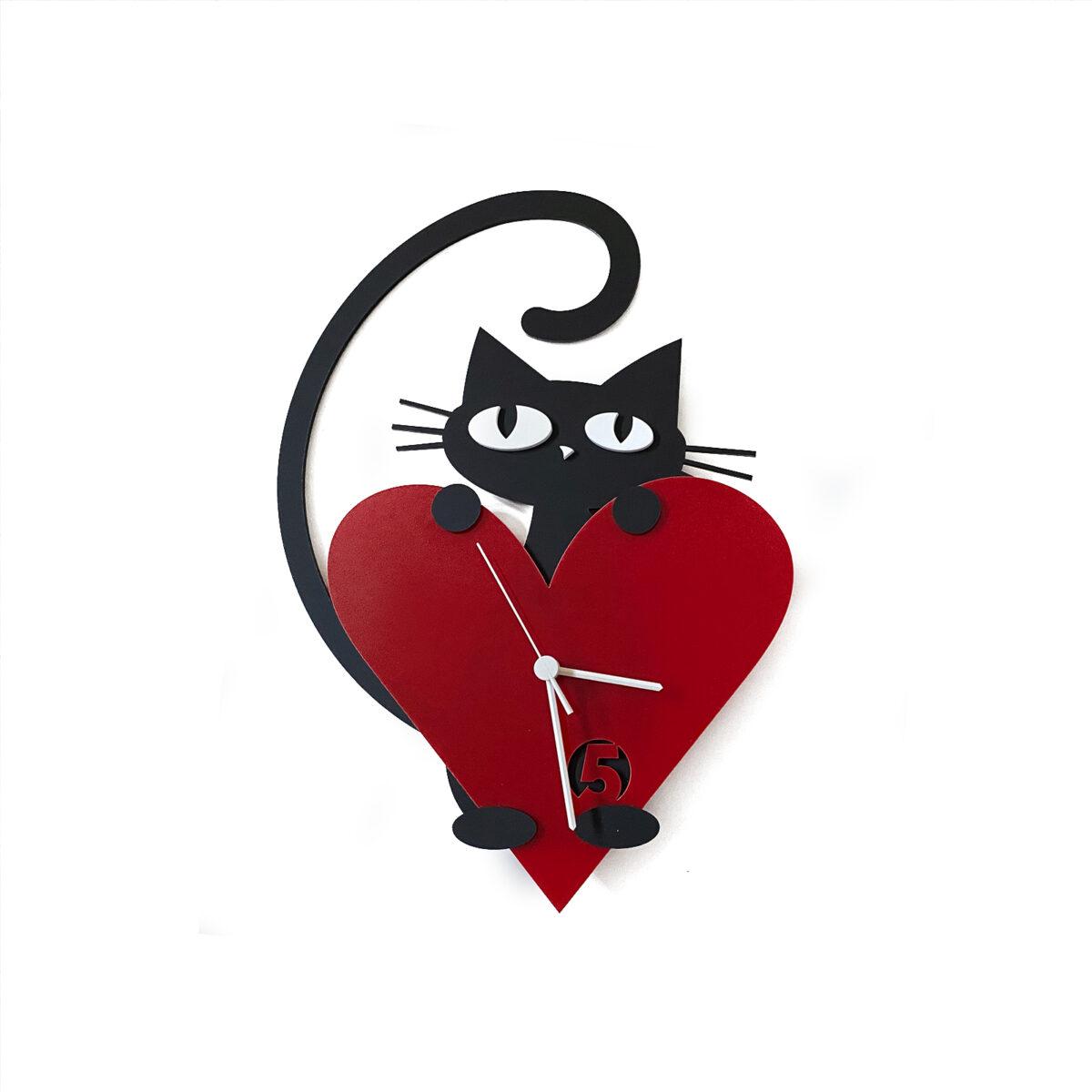pisicuta iubitoare ceas de perete2